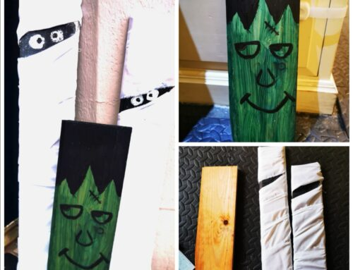 Wood planks Halloween Decorations