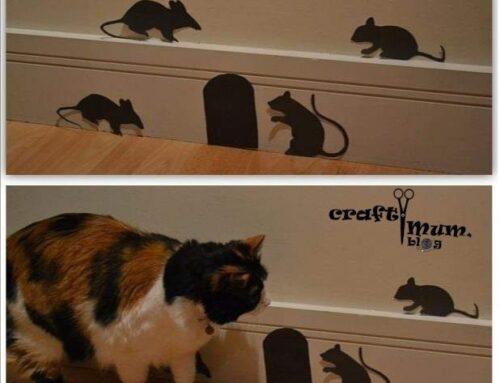 Halloween mice silhouette decor