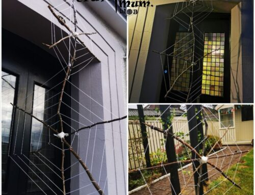 Sticks spiderweb – eco friendly decorations