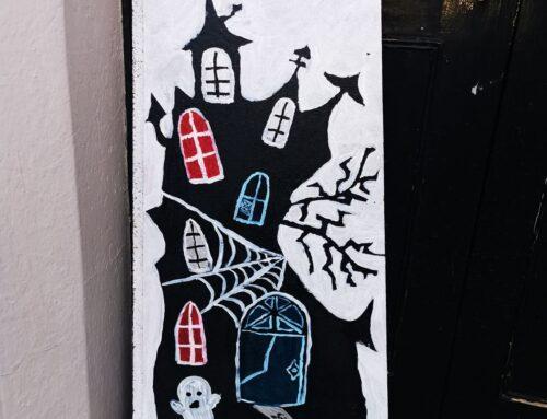 Witch castle wood plaque