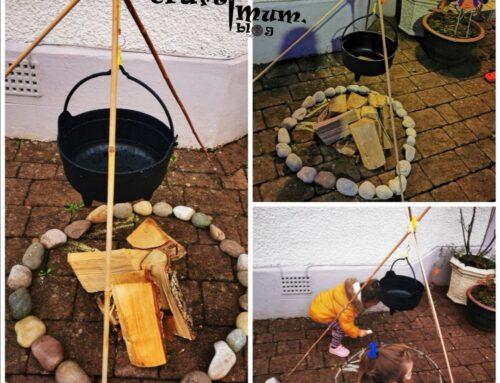 Witch cauldron fire pit