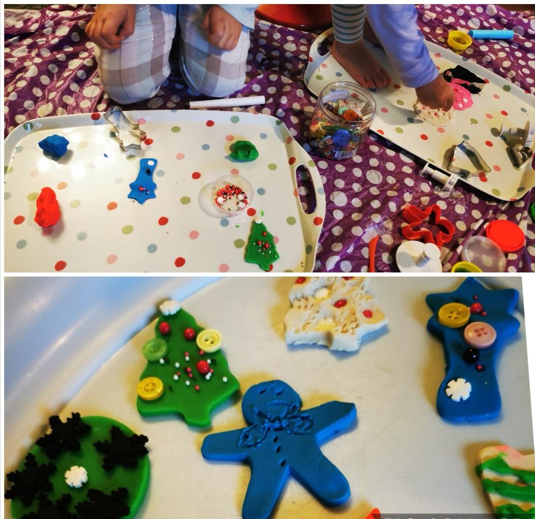 Playdoh Christmas cookies