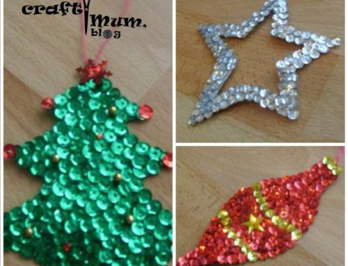 Sequin Christmas decorations