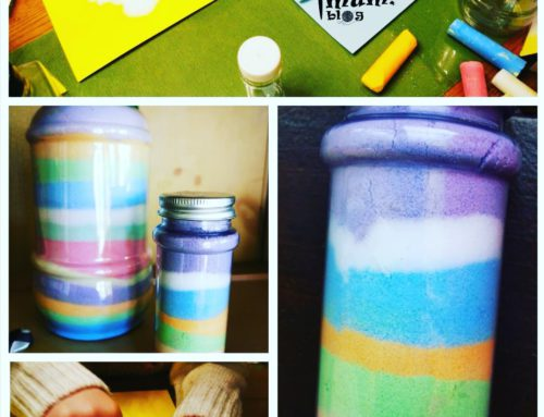 Coloured salt jars