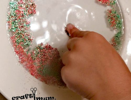 Glitter water surface tension experiment